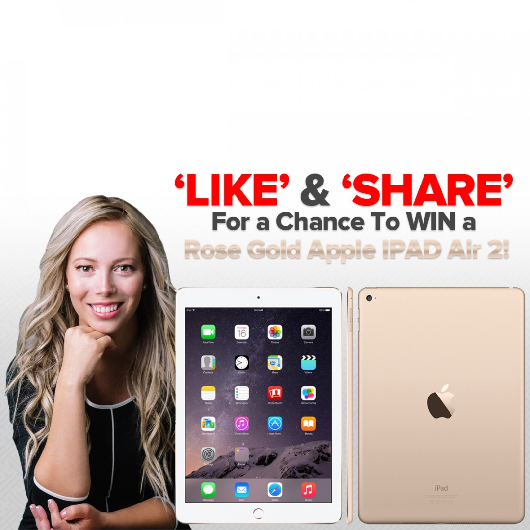 WIN a Rose Gold Apple iPad Air 2!