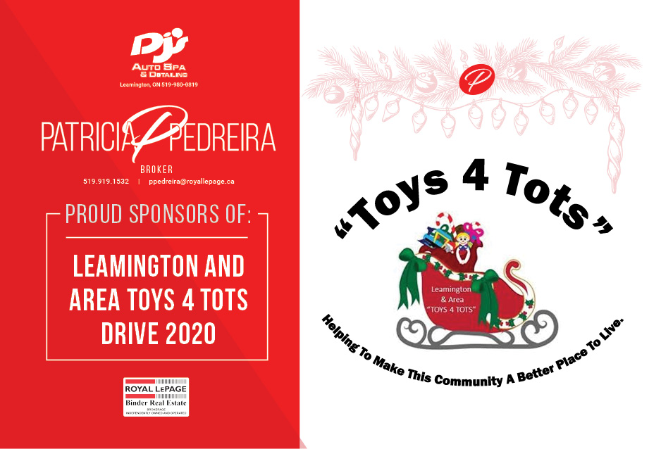 Please Help Support the 2020 Leamington Area Toys 4 Tots Toy Drive