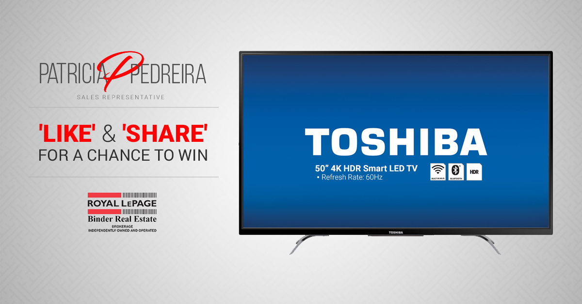 "'LIKE' & 'SHARE' For a Chance to Win a 50"" 4K TV!"